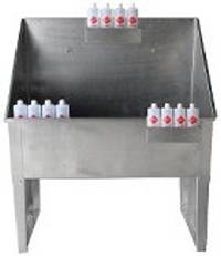 Groomer's Best Stainless Steel Shampoo Conditioner Bottle Holders, Midwest Grooming Supples & Service