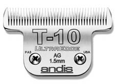 "Andis T-10 blade 1/16"" lvs hair long, Midwest Grooming Supplies"