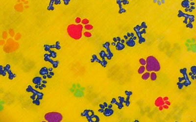 Bow Wow Woof Yellow Bandana, Midwest Grooming Supplies