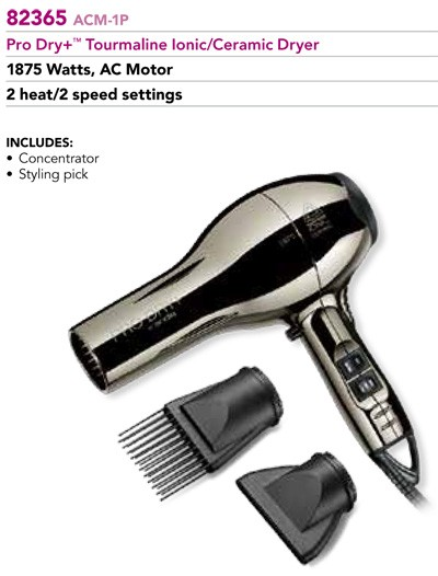 Andis 82365 ACM-1P Pro Dry+ 1875 watt Hair Dryer