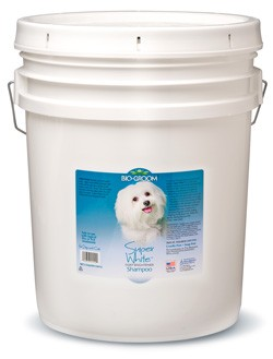 Bio-Groom Super White dog shampoo 5 gallon pail