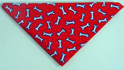 Tossed Bones Red Bandana