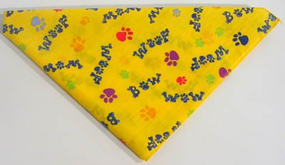 Bow Wow Woof Yellow Bandana